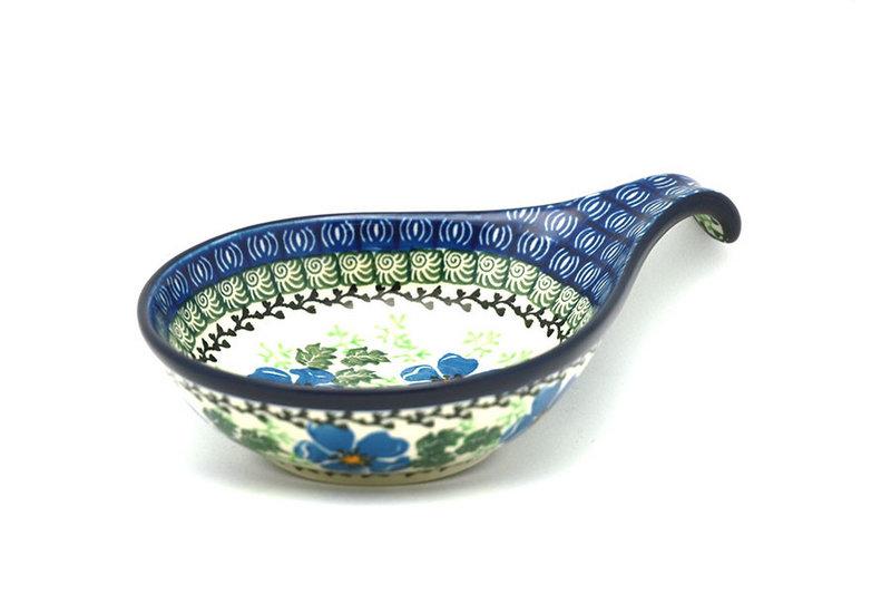 Ceramika Artystyczna Polish Pottery Spoon/Ladle Rest - Morning Glory 174-1915a (Ceramika Artystyczna)