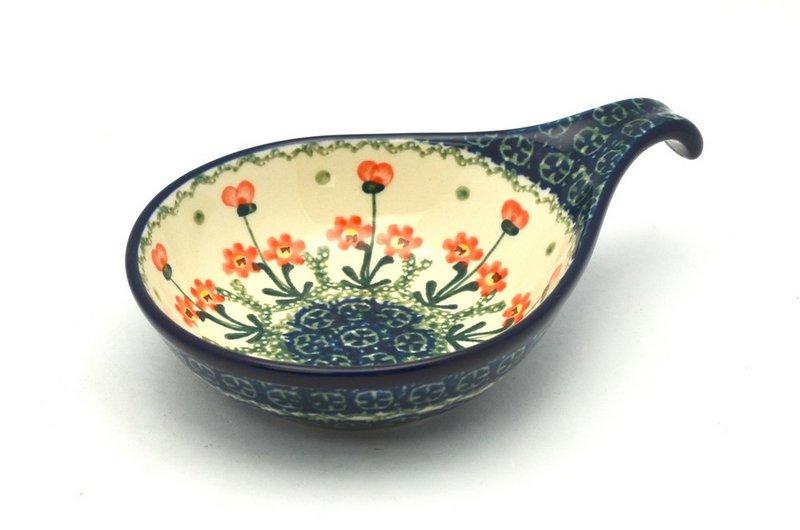 Ceramika Artystyczna Polish Pottery Spoon/Ladle Rest - Peach Spring Daisy 174-560a (Ceramika Artystyczna)