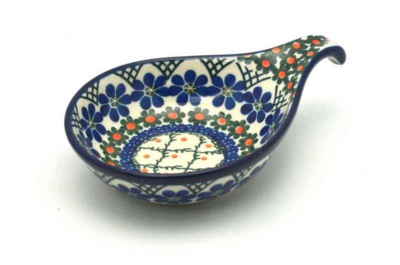 Ceramika Artystyczna Polish Pottery Spoon/Ladle Rest - Primrose 174-854a (Ceramika Artystyczna)