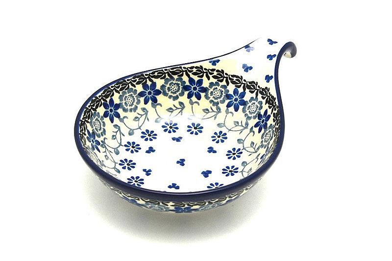 Ceramika Artystyczna Polish Pottery Spoon/Ladle Rest - Silver Lace 174-2158a (Ceramika Artystyczna)