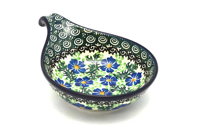 Ceramika Artystyczna Polish Pottery Spoon/Ladle Rest - Sweet Violet 174-1538a (Ceramika Artystyczna)