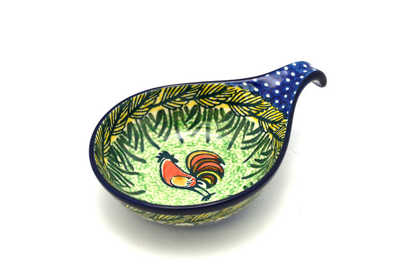 Ceramika Artystyczna Polish Pottery Spoon/Ladle Rest - Unikat Signature - U2663 174-U2663 (Ceramika Artystyczna)