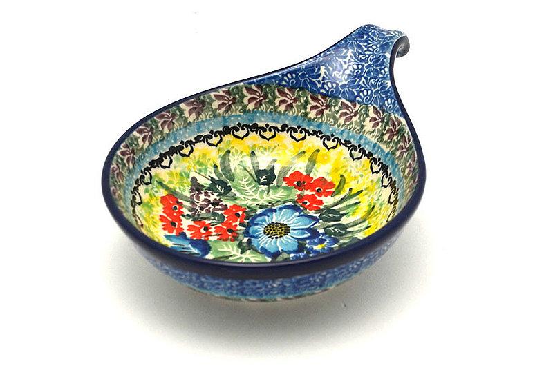 Ceramika Artystyczna Polish Pottery Spoon/Ladle Rest - Unikat Signature - U4558 174-U4558 (Ceramika Artystyczna)