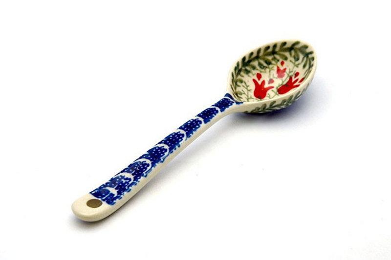 Ceramika Artystyczna Polish Pottery Spoon - Medium - Crimson Bells 590-1437a (Ceramika Artystyczna)