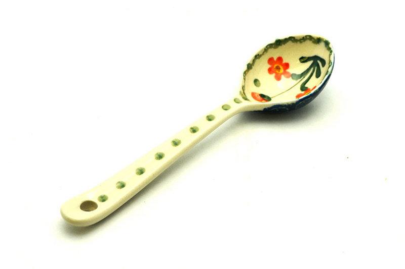 Ceramika Artystyczna Polish Pottery Spoon - Medium - Peach Spring Daisy 590-560a (Ceramika Artystyczna)