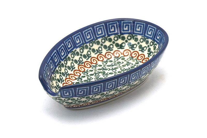 Ceramika Artystyczna Polish Pottery Spoon Rest - Autumn 381-050a (Ceramika Artystyczna)