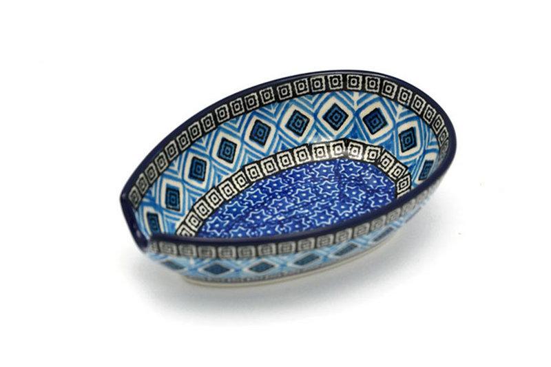 Ceramika Artystyczna Polish Pottery Spoon Rest - Aztec Sky 381-1917a (Ceramika Artystyczna)