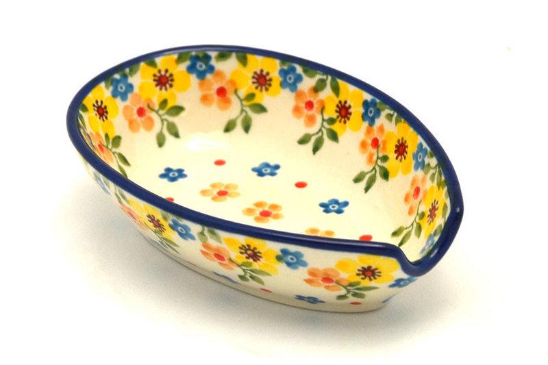Ceramika Artystyczna Polish Pottery Spoon Rest - Buttercup 381-2225a (Ceramika Artystyczna)