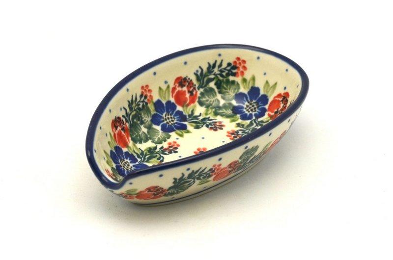 Ceramika Artystyczna Polish Pottery Spoon Rest - Garden Party 381-1535a (Ceramika Artystyczna)