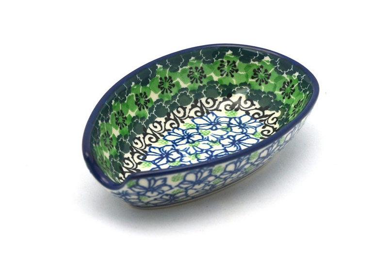 Ceramika Artystyczna Polish Pottery Spoon Rest - Kiwi 381-1479a (Ceramika Artystyczna)