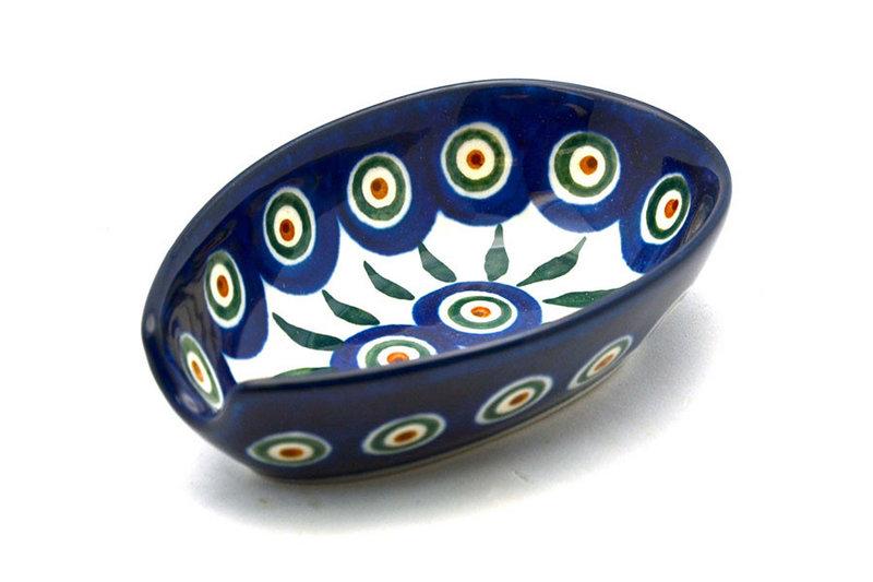 Ceramika Artystyczna Polish Pottery Spoon Rest - Peacock 381-054a (Ceramika Artystyczna)