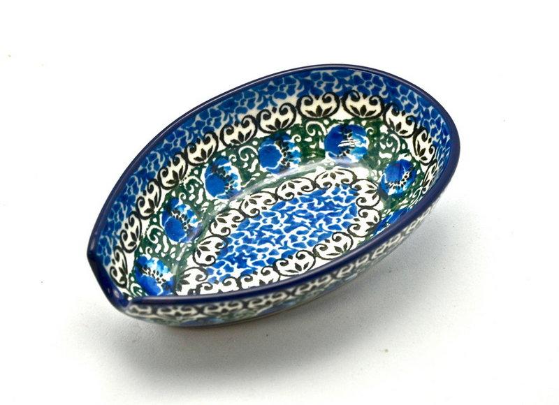 Ceramika Artystyczna Polish Pottery Spoon Rest - Peacock Feather 381-1513a (Ceramika Artystyczna)