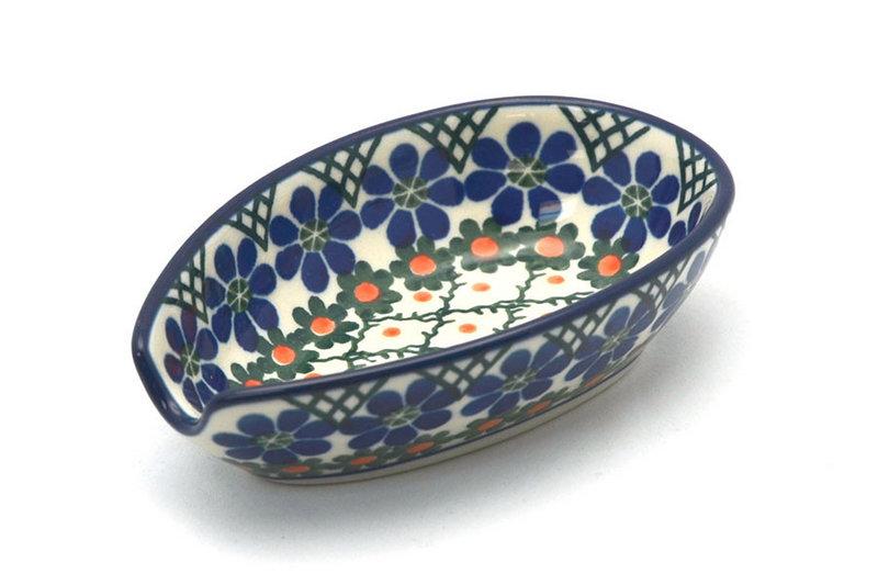 Ceramika Artystyczna Polish Pottery Spoon Rest - Primrose 381-854a (Ceramika Artystyczna)