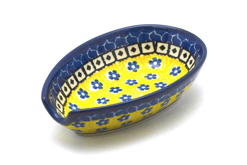 Ceramika Artystyczna Polish Pottery Spoon Rest - Sunburst 381-859a (Ceramika Artystyczna)