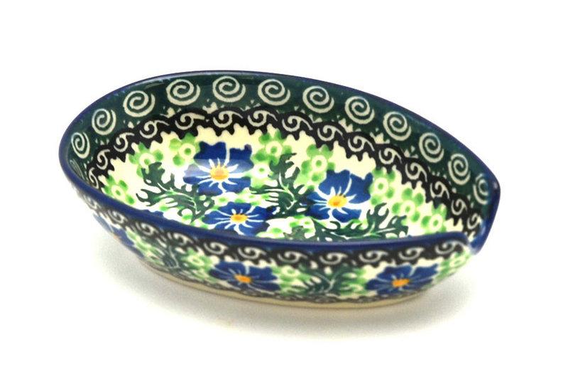 Ceramika Artystyczna Polish Pottery Spoon Rest - Sweet Violet 381-1538a (Ceramika Artystyczna)