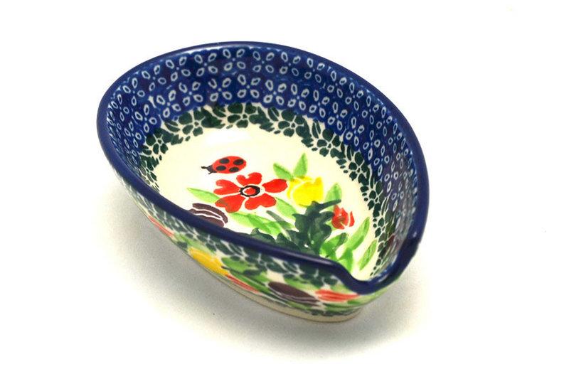 Ceramika Artystyczna Polish Pottery Spoon Rest - Unikat Signature - U3787 381-U3787 (Ceramika Artystyczna)