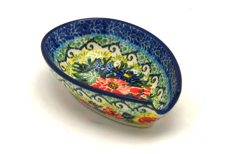 Ceramika Artystyczna Polish Pottery Spoon Rest - Unikat Signature - U4610 381-U4610 (Ceramika Artystyczna)