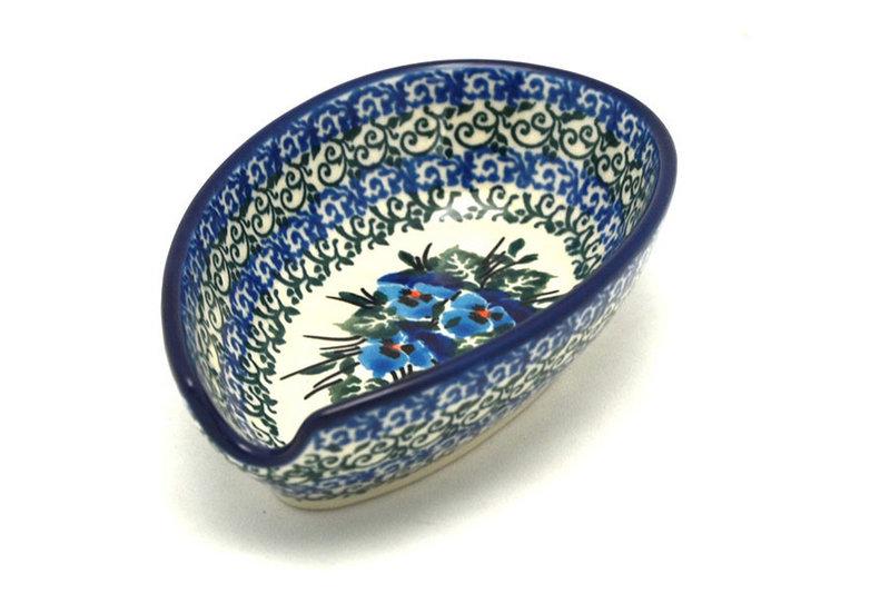 Ceramika Artystyczna Polish Pottery Spoon Rest - Winter Viola 381-2273a (Ceramika Artystyczna)