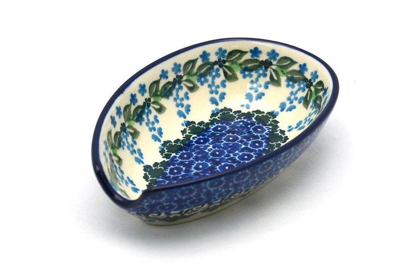 Ceramika Artystyczna Polish Pottery Spoon Rest - Wisteria 381-1473a (Ceramika Artystyczna)