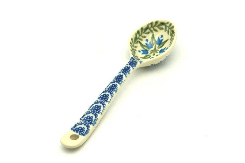 Ceramika Artystyczna Polish Pottery Spoon - Small - Blue Bells 592-1432a (Ceramika Artystyczna)