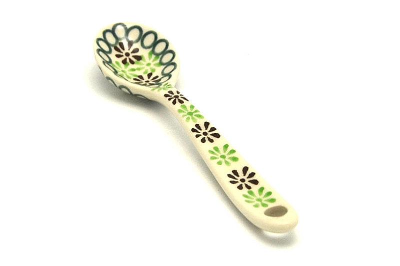 Ceramika Artystyczna Polish Pottery Spoon - Small - Mint Chip 592-2195q (Ceramika Artystyczna)