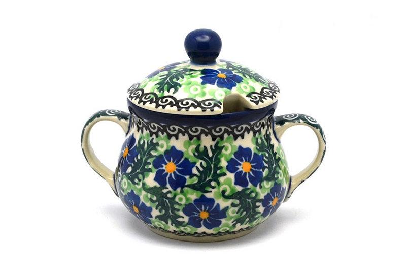 Ceramika Artystyczna Polish Pottery Sugar Bowl - Sweet Violet 035-1538a (Ceramika Artystyczna)