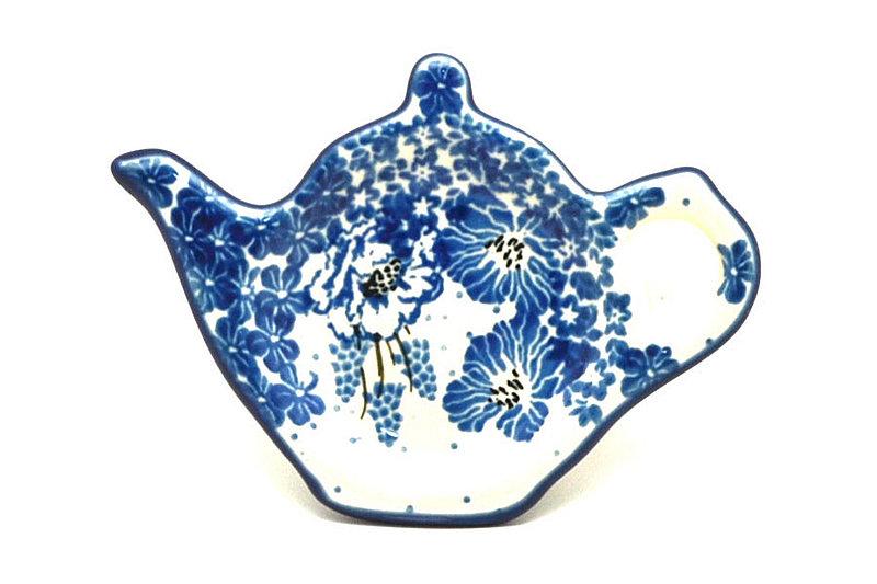 Ceramika Artystyczna Polish Pottery Tea Bag Holder - Blue Bayou 766-1975a (Ceramika Artystyczna)