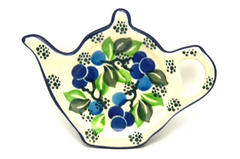 Ceramika Artystyczna Polish Pottery Tea Bag Holder - Blue Berries 766-1416a (Ceramika Artystyczna)