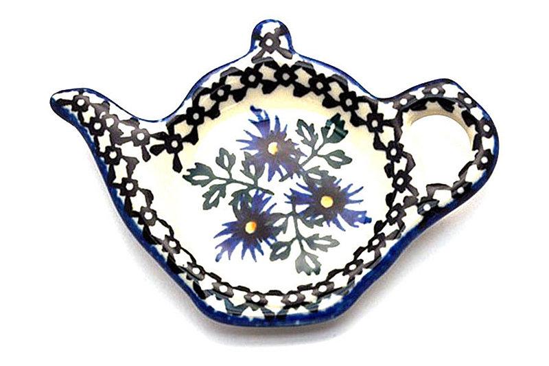 Ceramika Artystyczna Polish Pottery Tea Bag Holder - Blue Chicory 766-976a (Ceramika Artystyczna)