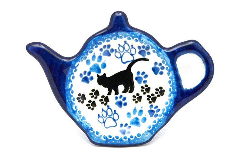 Polish Pottery Tea Bag Holder - Boo Boo Kitty