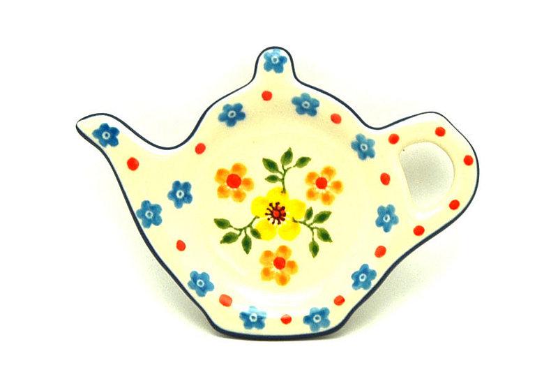 Ceramika Artystyczna Polish Pottery Tea Bag Holder - Buttercup 766-2225a (Ceramika Artystyczna)