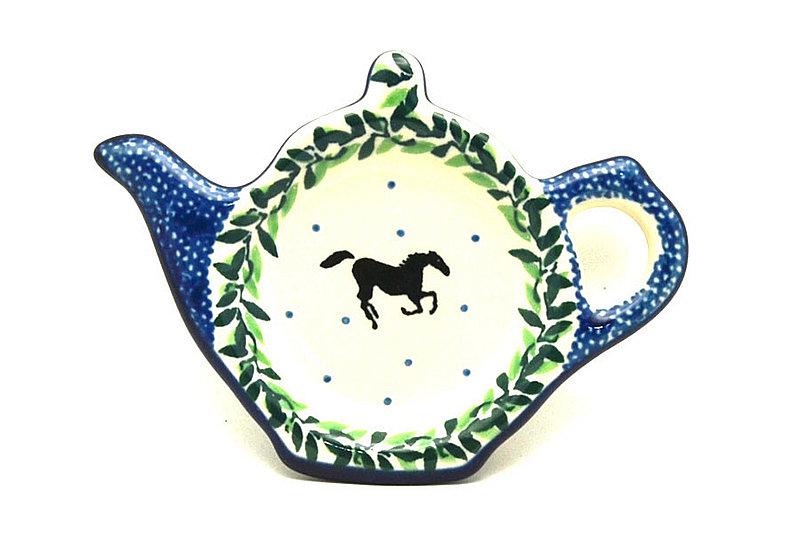 Ceramika Artystyczna Polish Pottery Tea Bag Holder - Dark Horse 766-2241a (Ceramika Artystyczna)