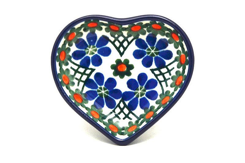 Ceramika Artystyczna Polish Pottery Tea Bag Holder - Heart - Primrose B64-854a (Ceramika Artystyczna)