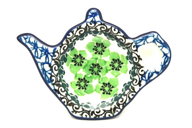 Ceramika Artystyczna Polish Pottery Tea Bag Holder - Kiwi 766-1479a (Ceramika Artystyczna)