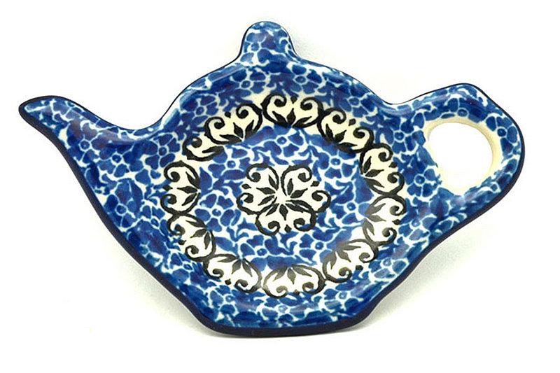 Ceramika Artystyczna Polish Pottery Tea Bag Holder - Peacock Feather 766-1513a (Ceramika Artystyczna)