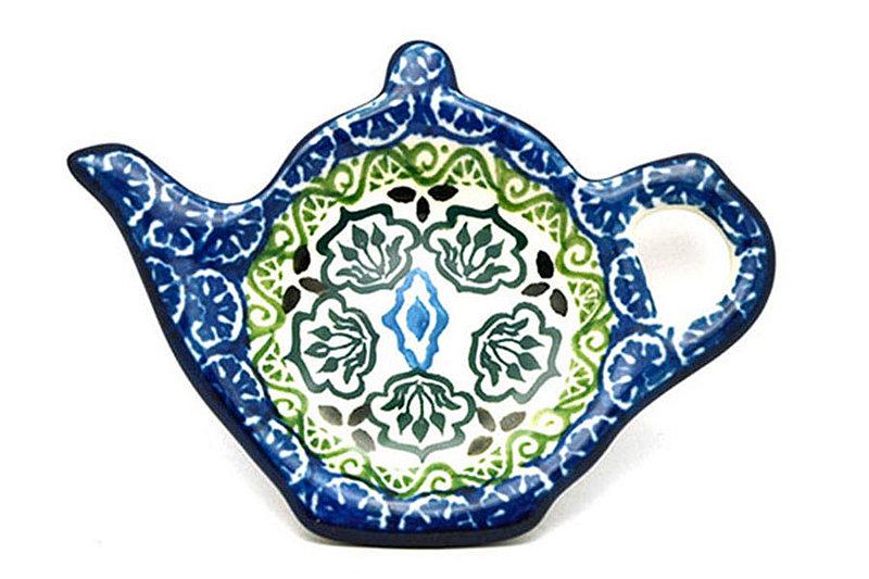 Ceramika Artystyczna Polish Pottery Tea Bag Holder - Tranquility 766-1858a (Ceramika Artystyczna)