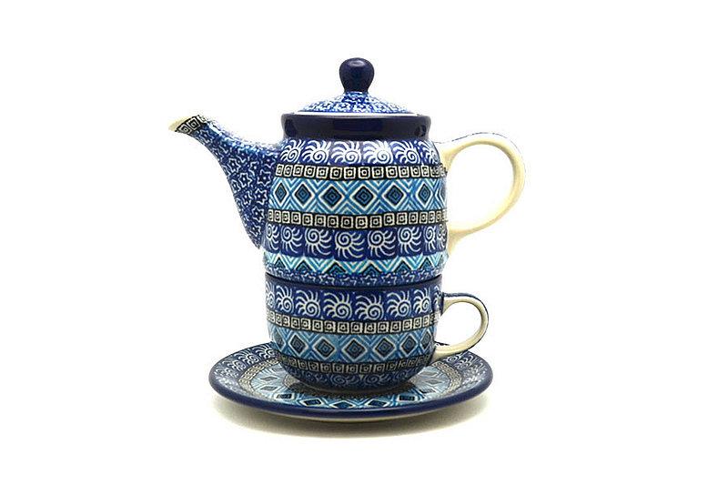 Ceramika Artystyczna Polish Pottery Tea Time for One - Aztec Sky 423-1917a (Ceramika Artystyczna)