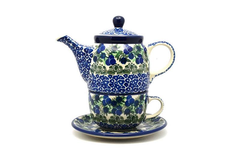 Ceramika Artystyczna Polish Pottery Tea Time for One - Huckleberry 423-1413a (Ceramika Artystyczna)