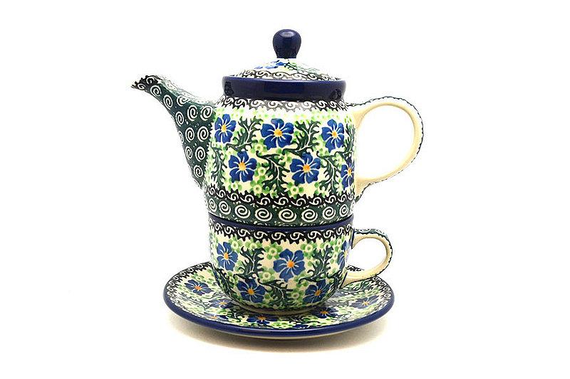 Ceramika Artystyczna Polish Pottery Tea Time for One - Sweet Violet 423-1538a (Ceramika Artystyczna)