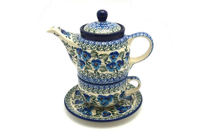 Ceramika Artystyczna Polish Pottery Tea Time for One - Winter Viola 423-2273a (Ceramika Artystyczna)