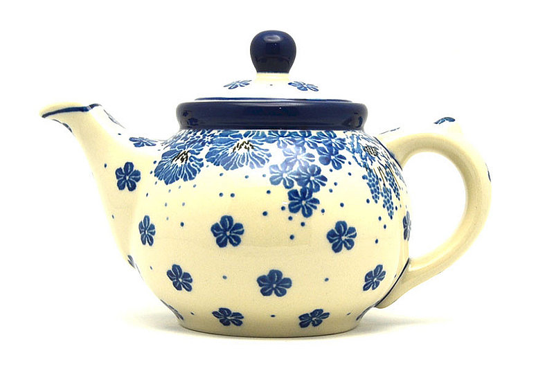 Ceramika Artystyczna Polish Pottery Teapot - 14 oz. - Blue Bayou 120-1975a (Ceramika Artystyczna)