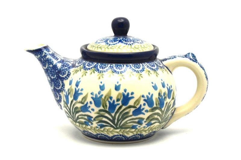 Ceramika Artystyczna Polish Pottery Teapot - 14 oz. - Blue Bells 120-1432a (Ceramika Artystyczna)