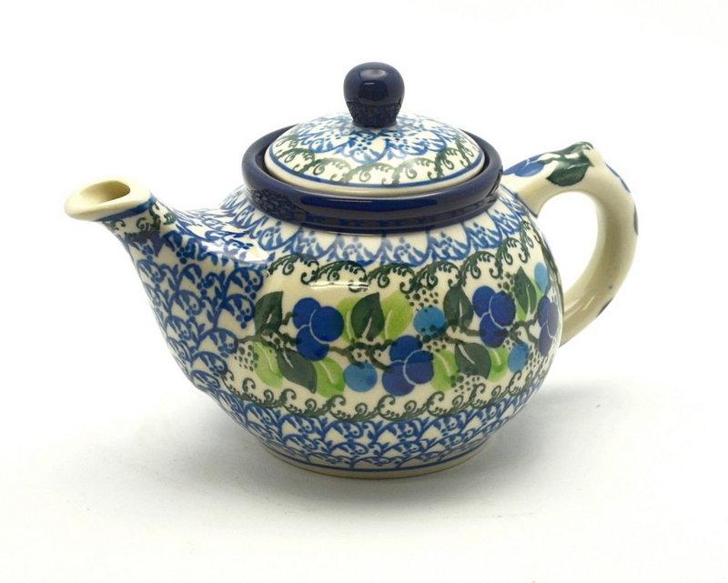 Ceramika Artystyczna Polish Pottery Teapot - 14 oz. - Blue Berries 120-1416a (Ceramika Artystyczna)