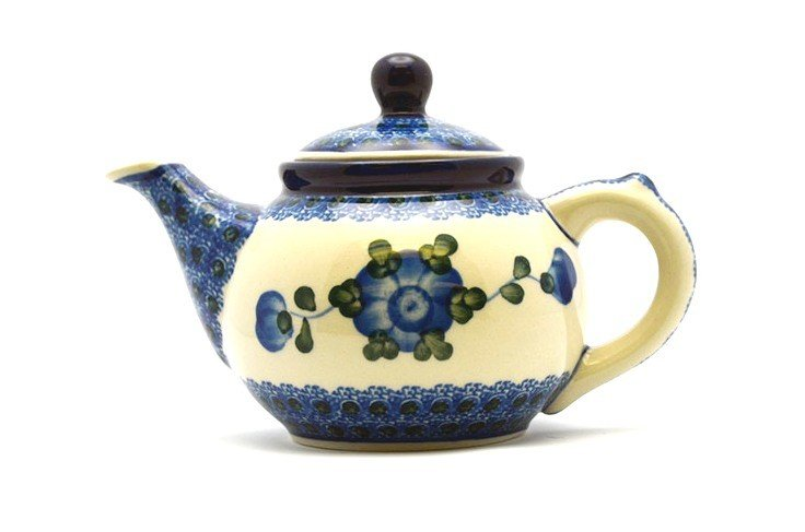Ceramika Artystyczna Polish Pottery Teapot - 14 oz. - Blue Poppy 120-163a (Ceramika Artystyczna)