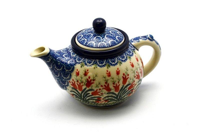 Ceramika Artystyczna Polish Pottery Teapot - 14 oz. - Crimson Bells 120-1437a (Ceramika Artystyczna)