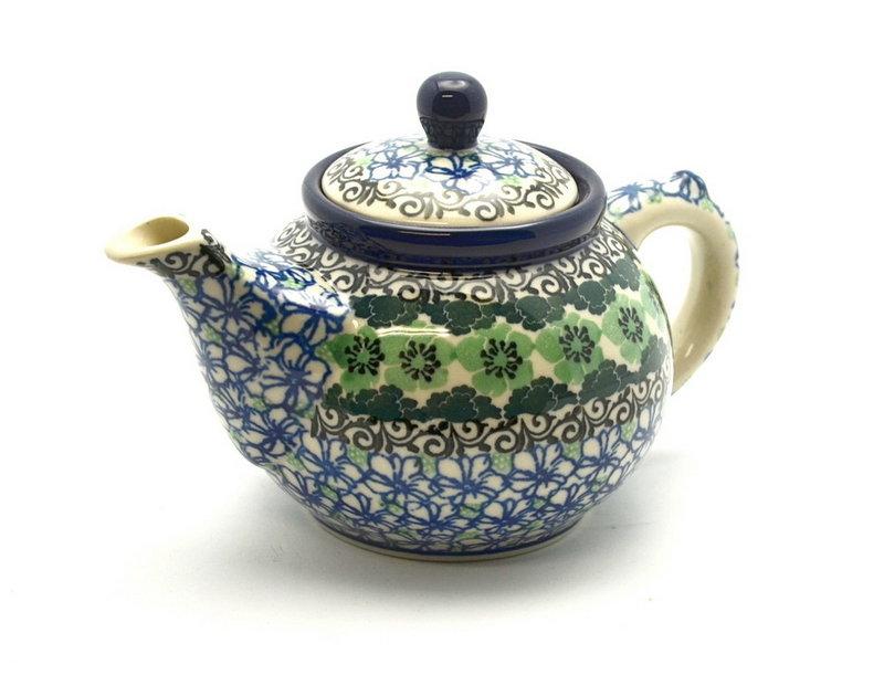Ceramika Artystyczna Polish Pottery Teapot - 14 oz. - Kiwi 120-1479a (Ceramika Artystyczna)