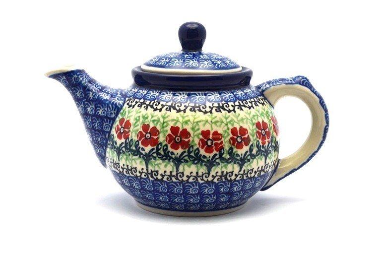 Ceramika Artystyczna Polish Pottery Teapot - 14 oz. - Maraschino 120-1916a (Ceramika Artystyczna)