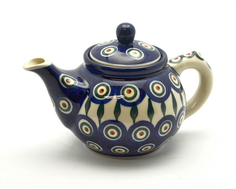 Ceramika Artystyczna Polish Pottery Teapot - 14 oz. - Peacock 120-054a (Ceramika Artystyczna)