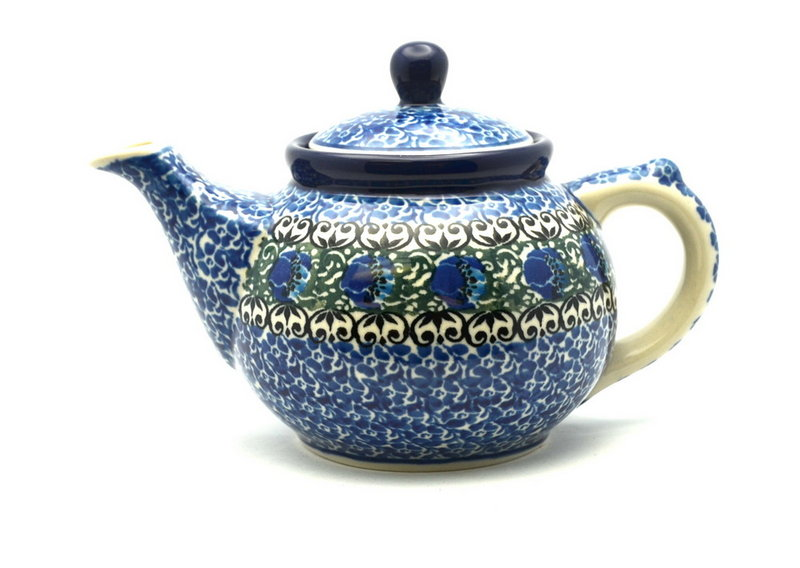 Ceramika Artystyczna Polish Pottery Teapot - 14 oz. - Peacock Feather 120-1513a (Ceramika Artystyczna)