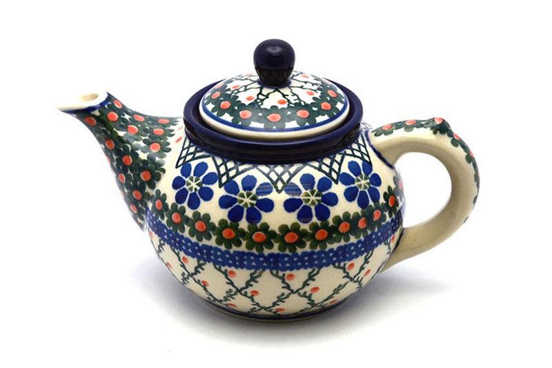 Ceramika Artystyczna Polish Pottery Teapot - 14 oz. - Primrose 120-854a (Ceramika Artystyczna)